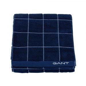 Gant Home Window Check Pyyheliina Yankee Blue 50x30 Cm