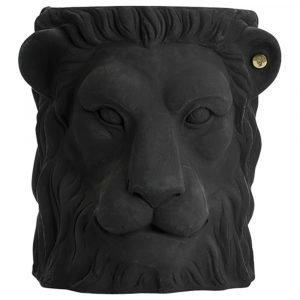 Garden Glory Lion Pot Ruukku L Musta