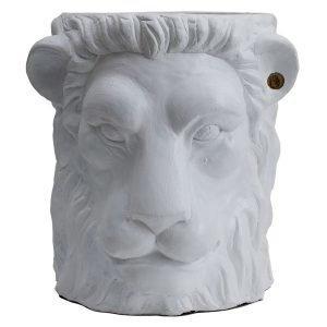 Garden Glory Lion Pot Ruukku L Valkoinen