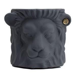 Garden Glory Lion Pot Ruukku S Harmaa