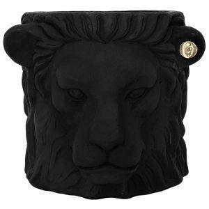 Garden Glory Lion Pot Ruukku S Musta