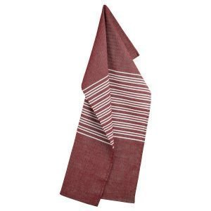 Georg Jensen Damask Horizontal Keittiöpyyhe Deep Red 50x80 Cm