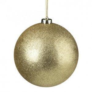 Glitter Pallo Kulta 15 Cm 2 Kpl