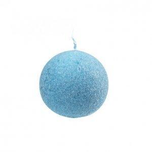 Glitter Pallo Pöytäkynttilä Sininen 8cm