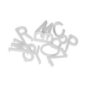 Granit Kirjaimet / Symbolit Iso Valkoinen 286-Pakkaus