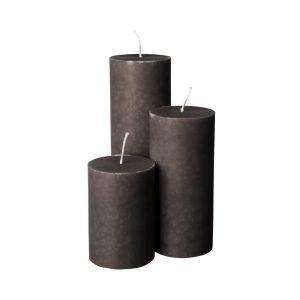 Granit Kynttilä Harmaa 7x15 Cm