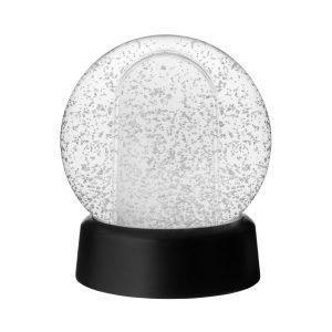 Granit Lumisadepallo Valkokuva Musta