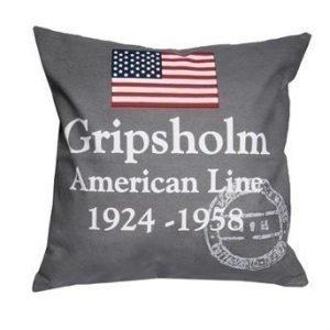 Gripsholm Tyynynpäällinen American Line Harmaa