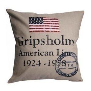 Gripsholm Tyynynpäällinen American Line Hiekka