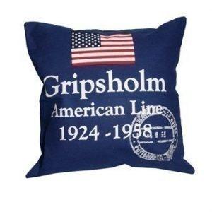 Gripsholm Tyynynpäällinen American Line Sininen