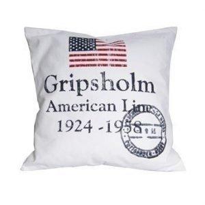 Gripsholm Tyynynpäällinen American Line Valkoinen