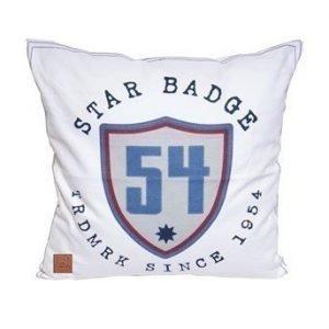 Gripsholm Tyynynpäällinen Badge Valkoinen