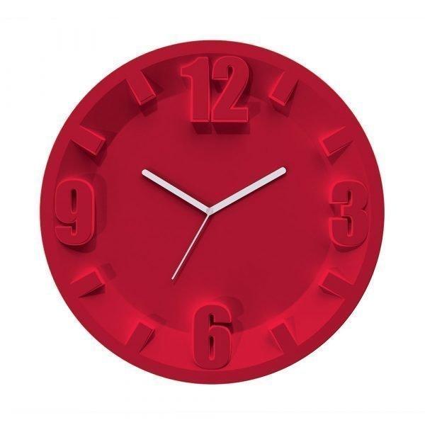 Guzzini 3 9 6 12 Seinäkello Punainen