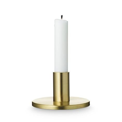 H. Skjalm P. Pyöreä Kynttilänjalka Mattamessinki 7 cm