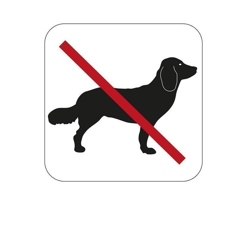 Habo Merkki koirat kielletty Valkoinen Musta