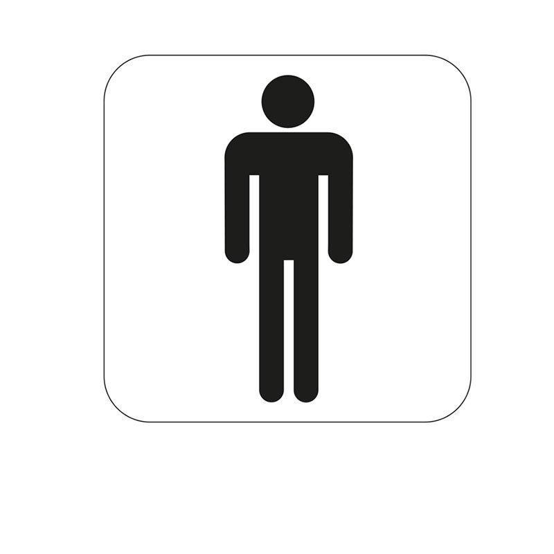 Habo Merkki miesten WC Valkoinen Musta