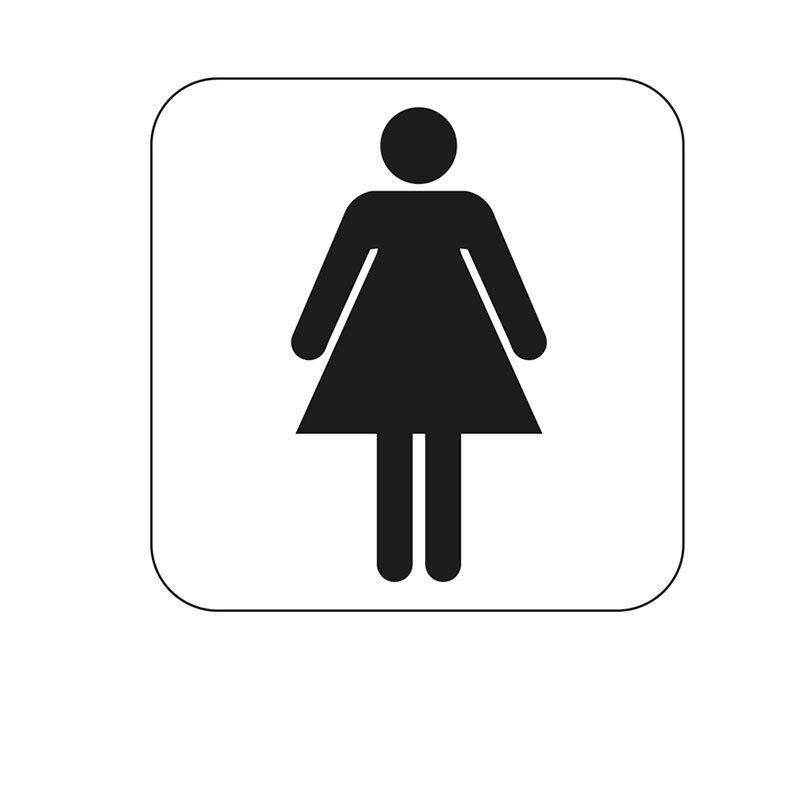 Habo Merkki naisten WC Valkoinen Musta