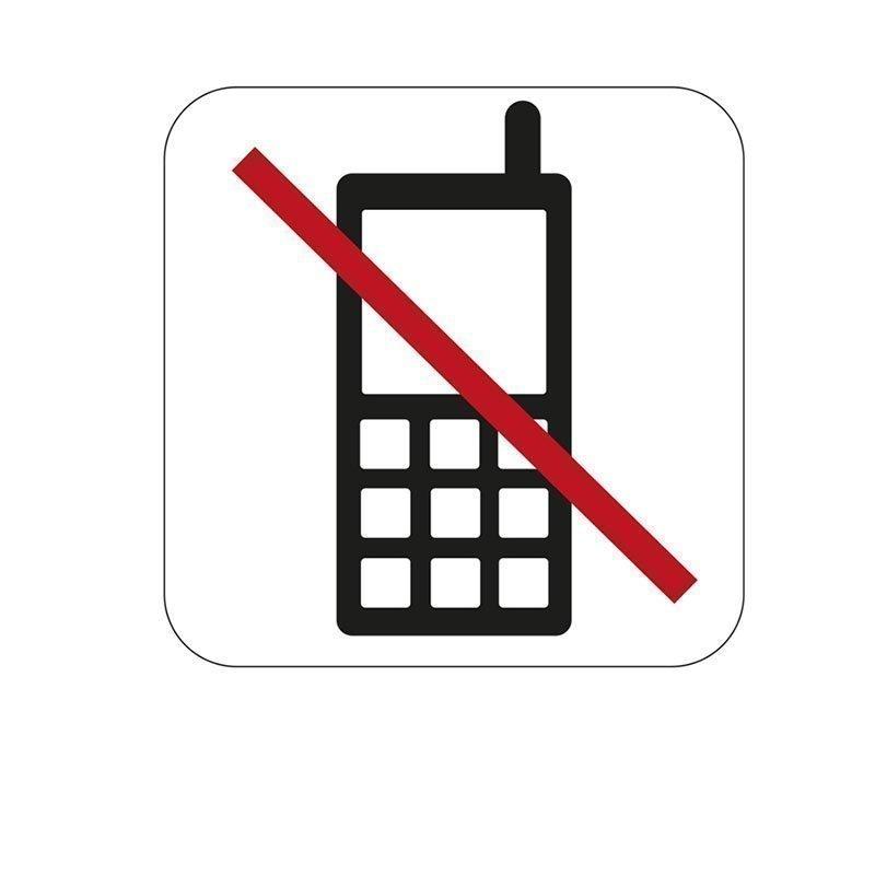 Habo Merkki puhelimen käyttö kielletty Valkoinen Musta