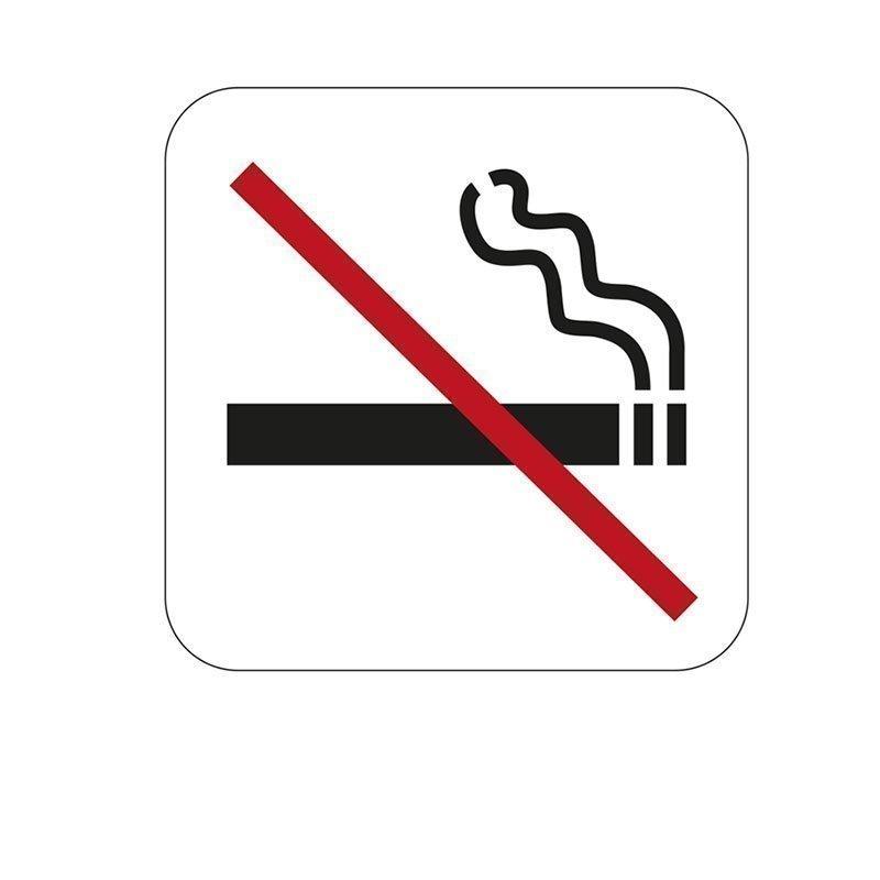 Habo Merkki tupakointi kielletty Valkoinen Musta