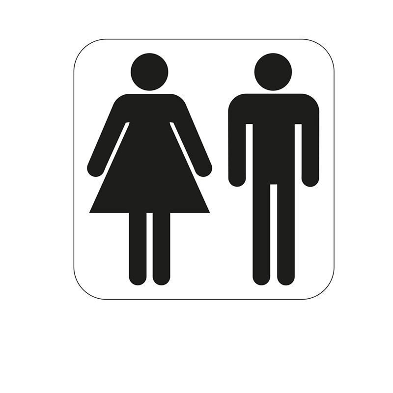 Habo Merkki yhteis-WC Valkoinen Musta