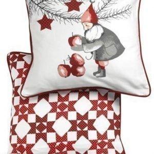 Halens Tyynynpäällinen 2-Pakkaus Valkoinen Punainen