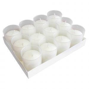 Hansa Candle Lyhtykynttilä Iso Valkoinen 12 Kpl / Pkt