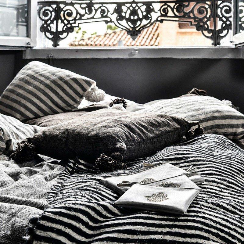 Harmaa Pompom Tyynynpäällinen 50x50 Cm