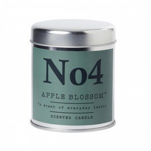 Hemtex Apple Blossom Scented Candle In Box Tuoksukynttilä Sinivihreä 7x7 Cm