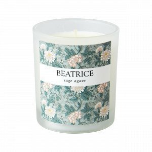 Hemtex Beatrice Scented Candle In Box Tuoksukynttilä Vihreä 7x7 Cm
