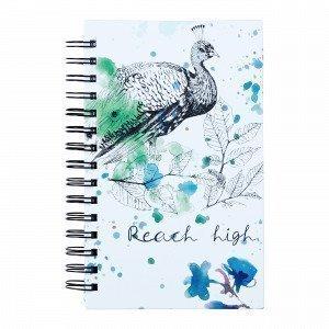 Hemtex Bellamy Notebook W Spiral Muistikirja Monivärivihreä 15x21 Cm