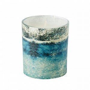 Hemtex Blaze Candle In Cup Kynttilä Sininen 7x7 Cm