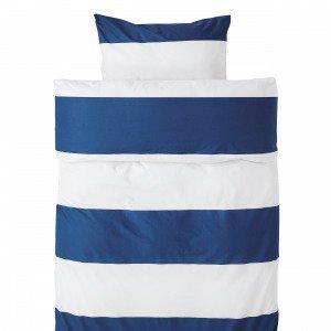 Hemtex Block Stripe Pussilakanasetti Sininen 150x210 Cm