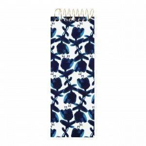 Hemtex Bluebelle Note Pad Muistilehtiö Sininen 7.5x22 Cm