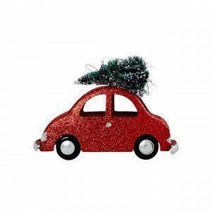 Hemtex Car W Riippuva Koriste Joulunpunainen 5x13 Cm