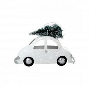 Hemtex Car W Riippuva Koriste Valkoinen 5x13 Cm