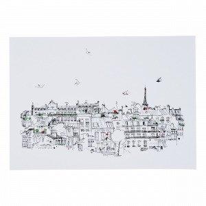 Hemtex Ciel Paris Juliste Valkoinen