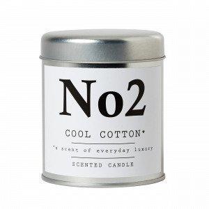 Hemtex Cool Cotton Tuoksukynttilä Valkoinen 7x7 Cm