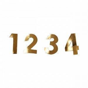 Hemtex Domini Numbers Numero Kulta 1x3 Cm