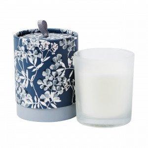 Hemtex Kimiko Scented Candle In Round Box Tuoksukynttilä Antiikinsininen 8x8 Cm