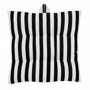 Hemtex Lea Stripe Istuintyyny Musta 40x40 Cm