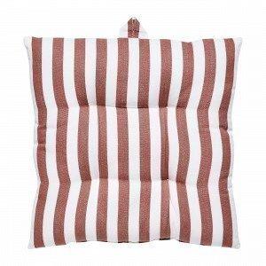 Hemtex Lea Stripe Istuintyyny Tummanoranssi 40x40 Cm