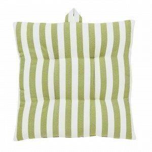 Hemtex Lea Stripe Istuintyyny Vaaleanvihreä 40x40 Cm