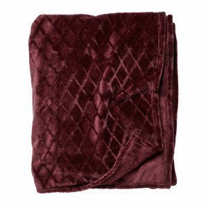 Hemtex Lucky Blanket Viltti Viininpunainen 130x170 Cm