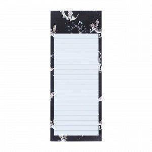 Hemtex Meiko Note Pad W Magnet Muistilehtiö Grafiitti 8x20.5 Cm