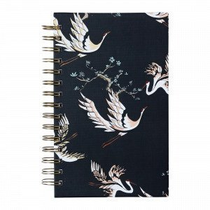 Hemtex Meiko Notebook W Spiral Muistikirja Grafiitti 15x21 Cm