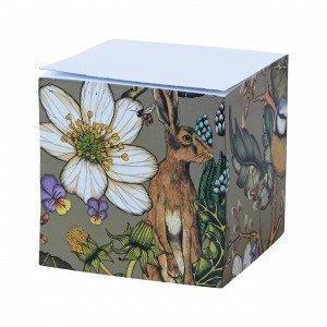 Hemtex + Nadja Wedin Willow Memo Cube Muistilappukuutio Monivärivihreä