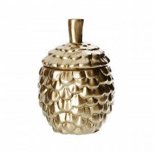 Hemtex Picea Bowl W Lid Purkki Kulta 10x10 Cm
