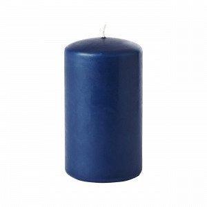 Hemtex Pillar Candle Coloured Pöytäkynttilä Denimsininen 6.5x6.5 Cm