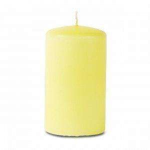 Hemtex Pillar Candle Coloured Pöytäkynttilä Keltainen 6.5x6.5 Cm