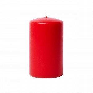 Hemtex Pillar Pöytäkynttilä Punainen 6.5x6.5 Cm